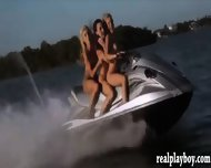 Sexy Hot Girls Enjoyed Seabob And Jetski In Topless - scene 7