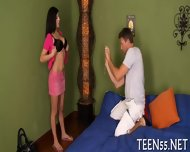 Slutty Teen Explores Mature Cock - scene 7