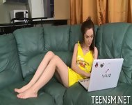 Skinny Teen Trains Her Snatch - scene 1