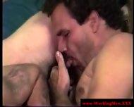 Hairy Straight Duo Sixtynine On Floor - scene 11