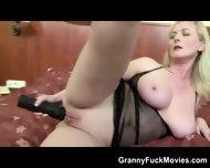 Huge Black Dong For Granny Ass - scene 1