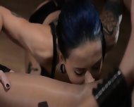 Tatto Lezzs Enjoying Sex With Strap On - scene 4