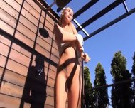 Toying And Opening Her Hole On Terrace - scene 3