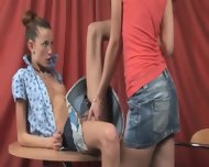 Super Gaunt Girls Naked On The Table - scene 4