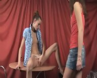 Super Gaunt Girls Naked On The Table - scene 5