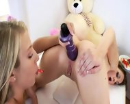 Schoolmates Destroying Opened Assholes - scene 6
