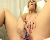 Czech Blond Opening Vagina Hole Hard - scene 7