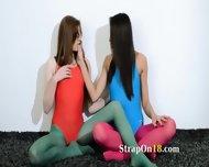 Hairy Lezzies In Nylon Pants Loving - scene 2