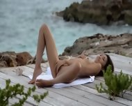 Asian Angel Masturbate By The Ocean - scene 5