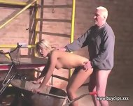 Teen Blonde Reluctantly Rims And Fucks An Old Fat Man - scene 10