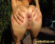 Outdoor Slut Anal Closeup - scene 2