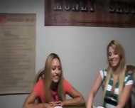 Young Girls Loving On Poker Night - scene 2