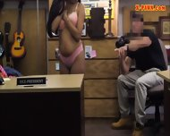 Cute Amateur Gal Selling Her Old Coat And Fucked By Pawn Man - scene 6