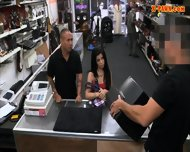 Hot Busty Latina Sells Her Old Tv And Fucked At The Pawnshop - scene 1