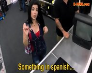Hot Busty Latina Sells Her Old Tv And Fucked At The Pawnshop - scene 3