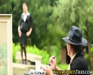 Pissed On Outdoor Babes - scene 2