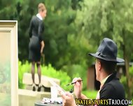 Pissed On Outdoor Babes - scene 3