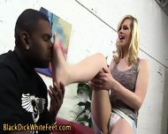 Blonde Get Footworshipped - scene 4