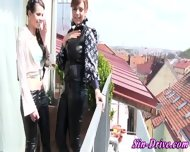 Leather Clad Lesbo Rimmed - scene 4