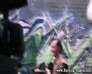 Black Emo Babe Fingers - scene 2