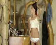 Sweet Brunet With Luxury Body - scene 5