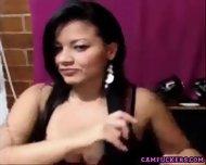 Dark Haired Latina Slut On Webcam - scene 3