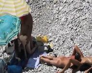 Beach Voyeur Couple Fucking - scene 1