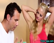 Blonde Stunner Massaged - scene 2