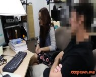 Geeky Student Blowjob And Banged Good In The Pawnshop - scene 3