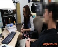 Geeky Student Blowjob And Banged Good In The Pawnshop - scene 4