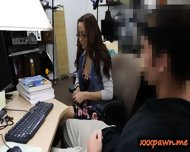 Geeky Student Blowjob And Banged Good In The Pawnshop - scene 5