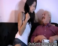 Swallowing Teen Blows Old - scene 3