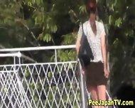Leggy Asian Babe Urinates - scene 7