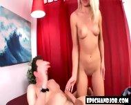 Blonde Gives Super Handjob - scene 7