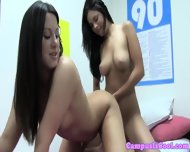 Gorgeous Coed Teen Lesbian Action - scene 8