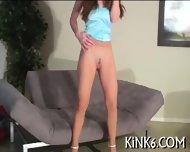 Yummy Babe Shows Hairy Gash - scene 6