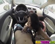 Jade Striptease In The Car And Had A Nice Facial - scene 6