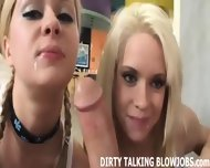 We Will Talk Dirty While We Take Turns Sucking Your Cock - scene 11
