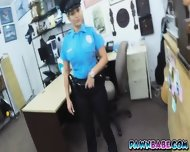 Ms. Police Officer And The Pawnman S Own Pistol In Her Pussy - scene 2
