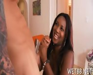 Ebony Gives Wet Blowjob - scene 6