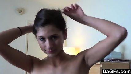 Sweet Little Teen Fucked In Pov On Her Bed - scene 2