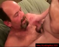 Hairy Gaystraight Mature Gets A Facial - scene 2