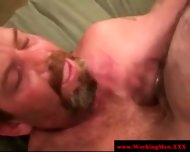 Hairy Gaystraight Mature Gets A Facial - scene 3