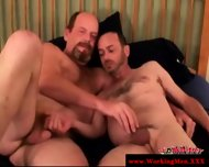 Hairy Gaystraight Mature Gets A Facial - scene 6