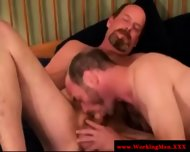 Hairy Gaystraight Mature Gets A Facial - scene 7