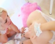 Blondes And Bottom Games With Milk - scene 10