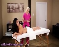 Oiled Up Lesbian Massage - scene 5