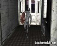 3d Redhead Sucks Cock And Gets Fucked By A Zombie - scene 5