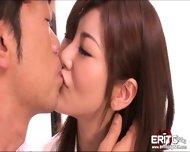 Beautiful Japanese Babe Gets Sloppy Tongue Fucking And Hardcore Pounding - scene 1