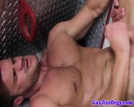 Jizz Loving Muscled Firemen 5 Men Orgy - scene 10